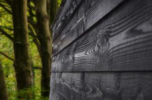 schutting douglas hout zwart beitsen Panda Paints